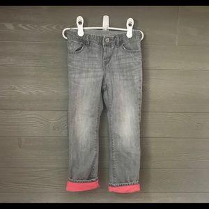 Gap fleece lined jeans